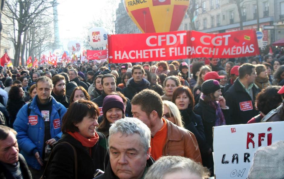 Huelga general en Francia, 29.01.2009. Foto Flickr por Farfahinne