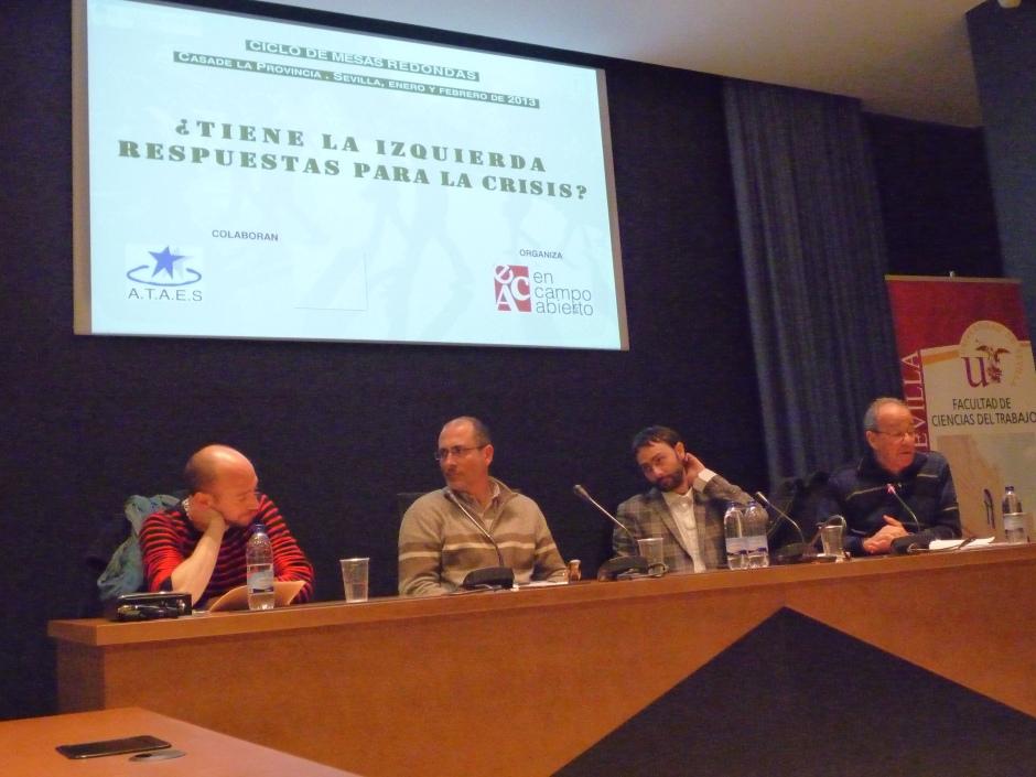 De izquierda a derecha: Luis Berraquero, Vicente Manzano-Arrondo, Francisco Jurado Gilabert y Lorenzo cabrera