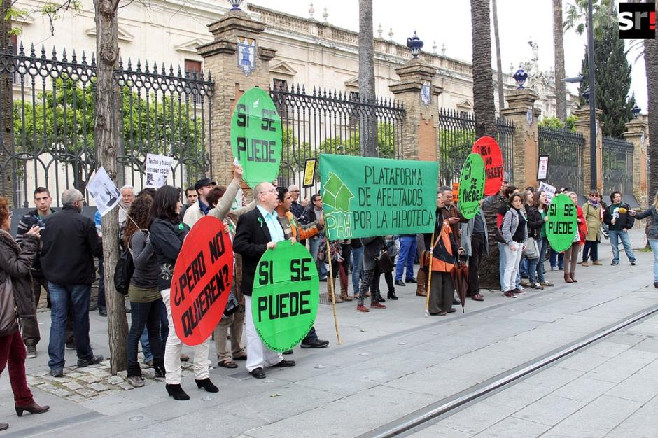 Escrache en Sevilla. Foto: sevillareport