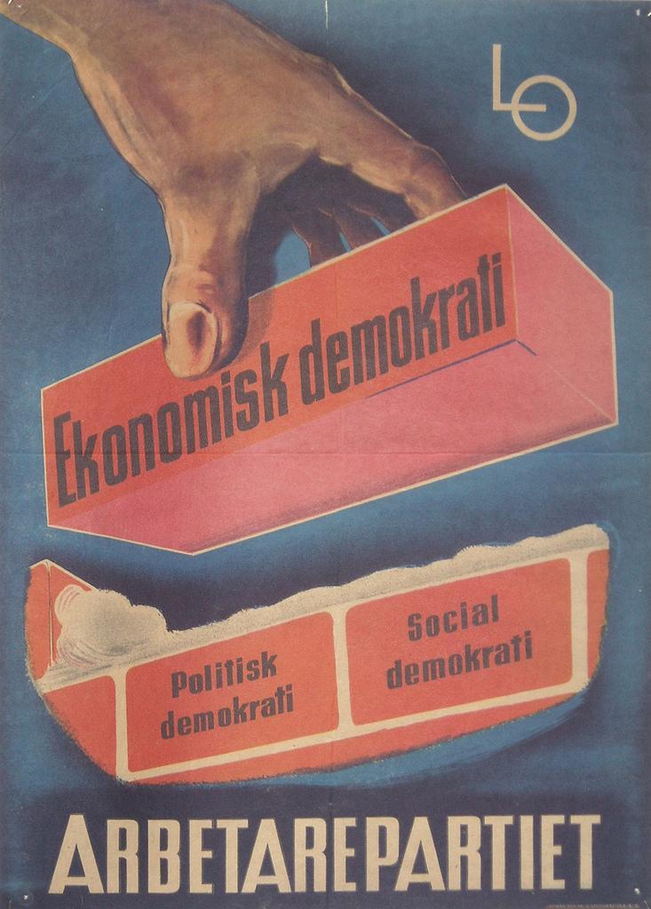 Cartel electoral de los años treinta del partido socialdemócrata sueco