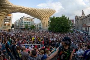 15M en las Setas, Sevilla. Foto por ale arillo (Flickr)